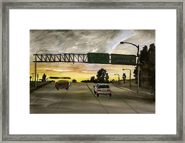 Sunset #28 Freeway Framed Print