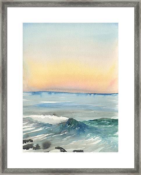 Sunset 33 - La Jolla Framed Print
