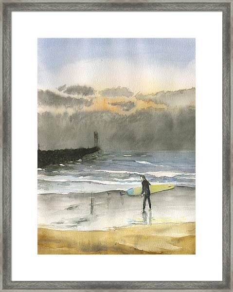 Sunset 34 Mission Beach Framed Print