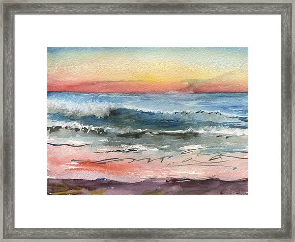 Sunset 39 Imperial Beach Framed Print