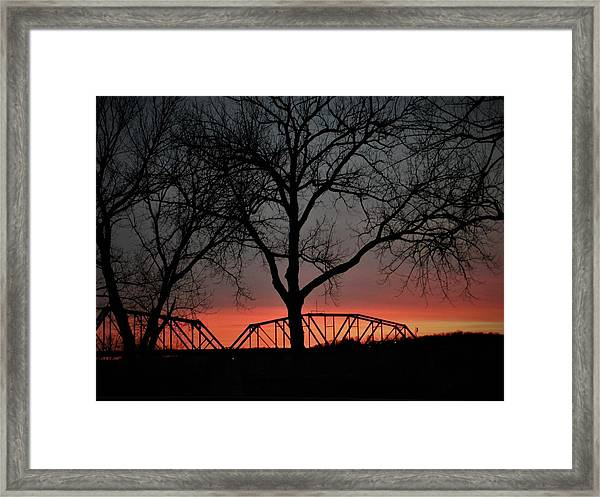 Sunset Across The Cumberland Framed Print