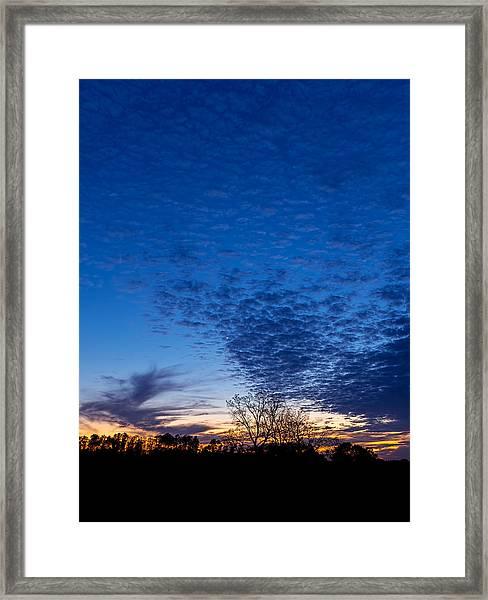 Sunset And Moon Sliver Framed Print