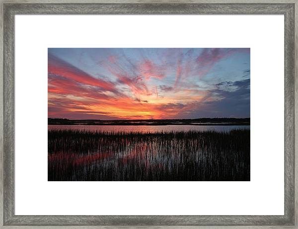 Sunset And Reflections 2 Framed Print