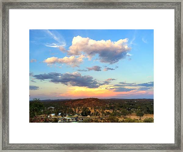 Sunset At Alice Springs #2 Framed Print