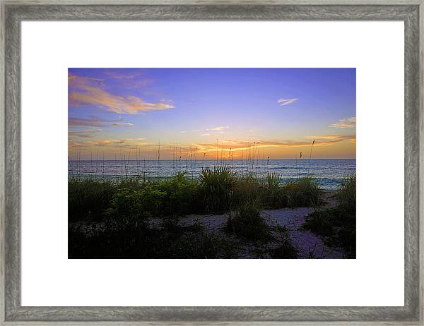 Sunset At Barefoot Beach Preserve In Naples, Fl Framed Print