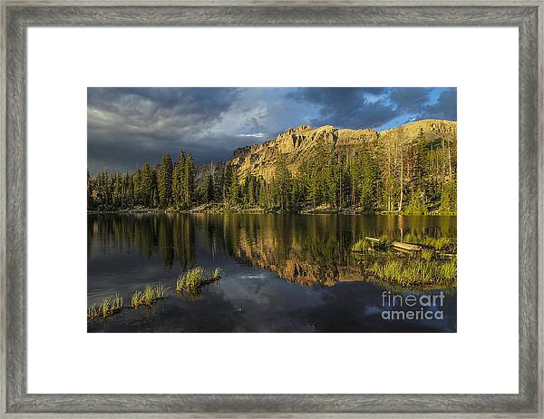 Sunset At Butterfly Lake Framed Print