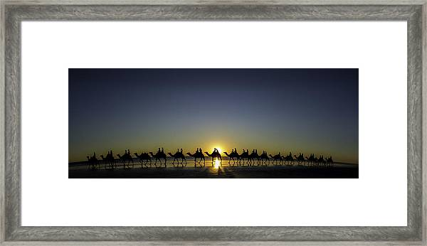 Sunset At Cable Beach Framed Print