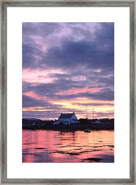 Sunset At Clachnaharry Framed Print