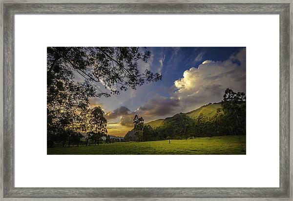 Sunset At Cocora Framed Print