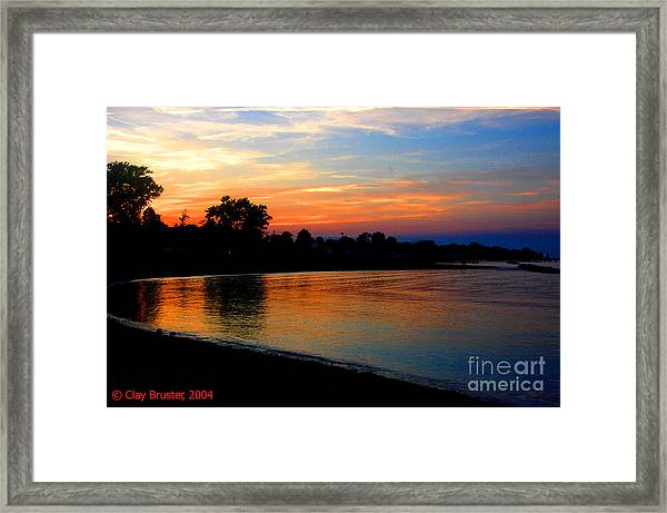 Sunset At Colonial Beach Cove Framed Print
