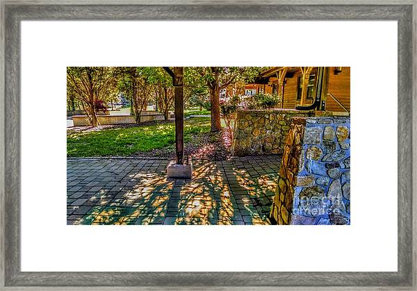 Sunset At Community Park In Montville, New Jersey Framed Print