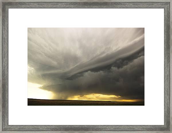 Sunset At Dalhart Texas Framed Print