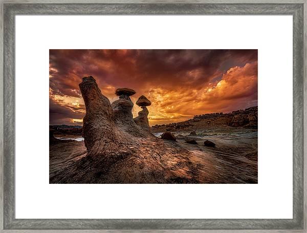 Sunset At Goblin Valley Framed Print