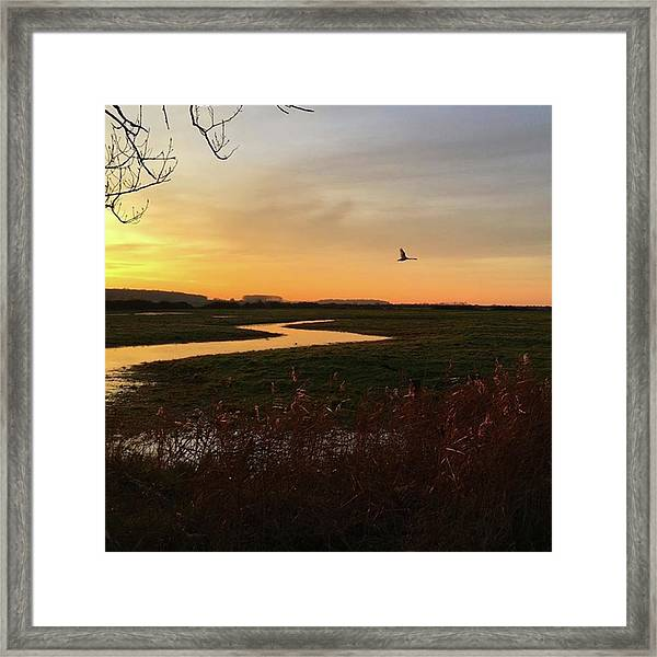 Sunset At Holkham Today  #landscape Framed Print
