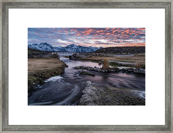 Sunset At Hot Creek Framed Print