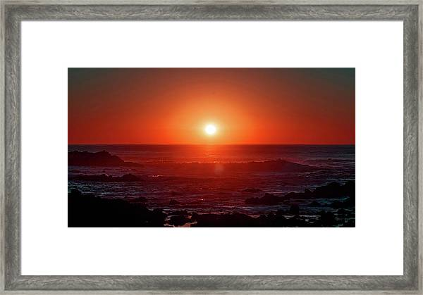 Sunset At Monterey Framed Print
