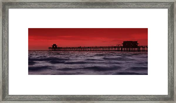 Florida Sunset Over Gulf Of Mexico Framed Print