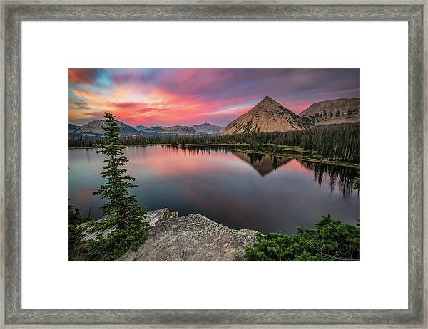 Sunset At Notch Lake Framed Print