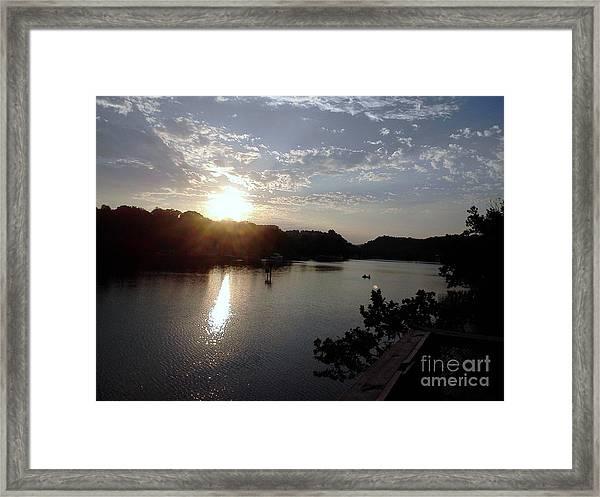 Sunset At Occoquan Framed Print