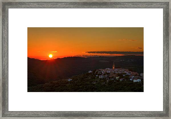 Sunset At Padna Framed Print