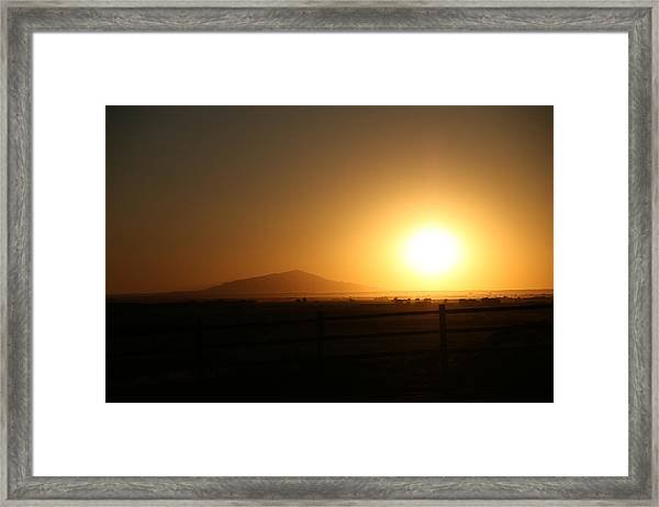 Sunset At Roswell New Mexico  Framed Print