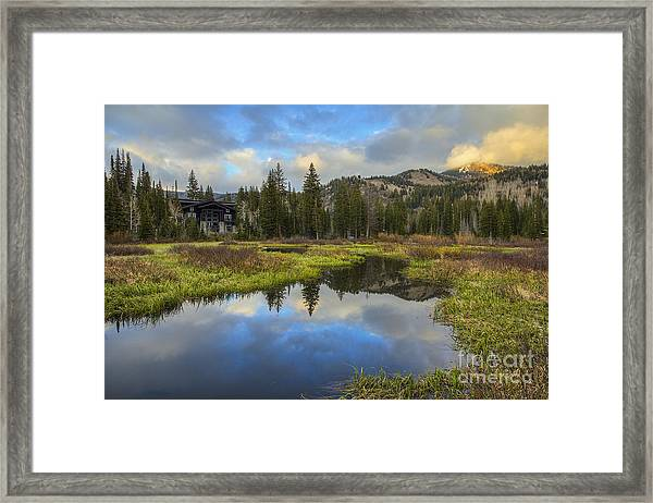 Sunset At Silver Lake Outlet Framed Print