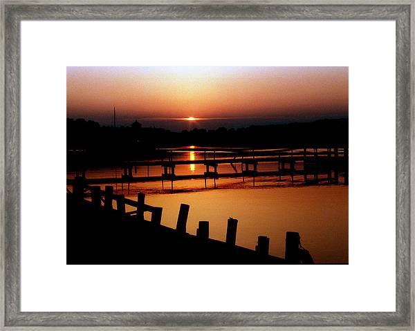 Sunset At Smithfield Station Framed Print