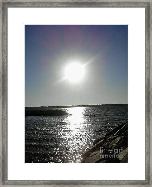 Sunset At Solomons Island Md Framed Print