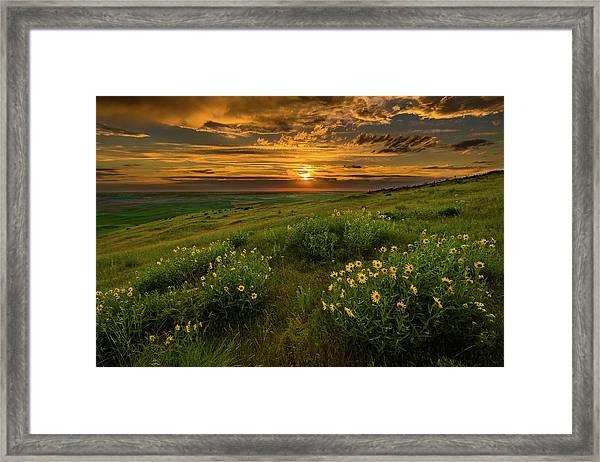 Sunset At Steptoe Butte Framed Print