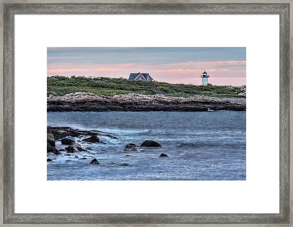 Sunset At Straitsmouth Light Framed Print
