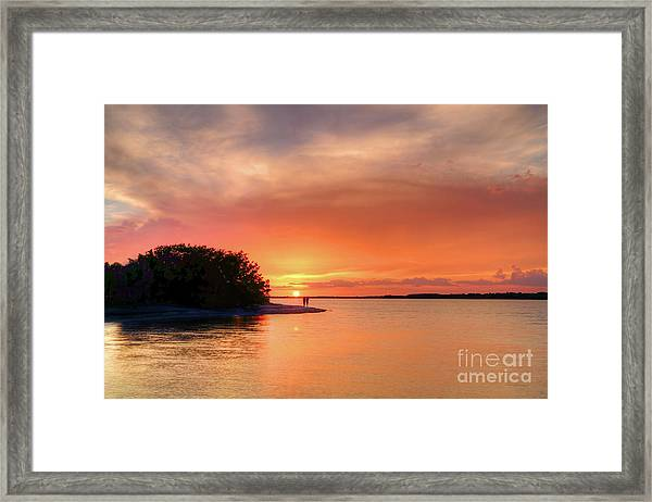 Sunset At The Beach Framed Print by Rick Mann