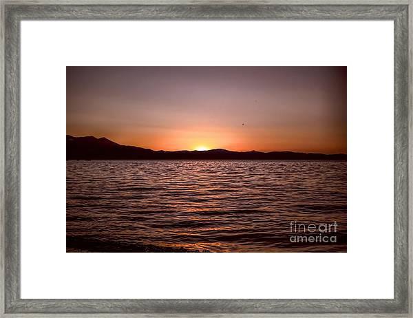 Sunset At The Lake 2 Framed Print