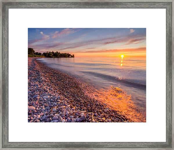 Sunset At The Loop  Framed Print