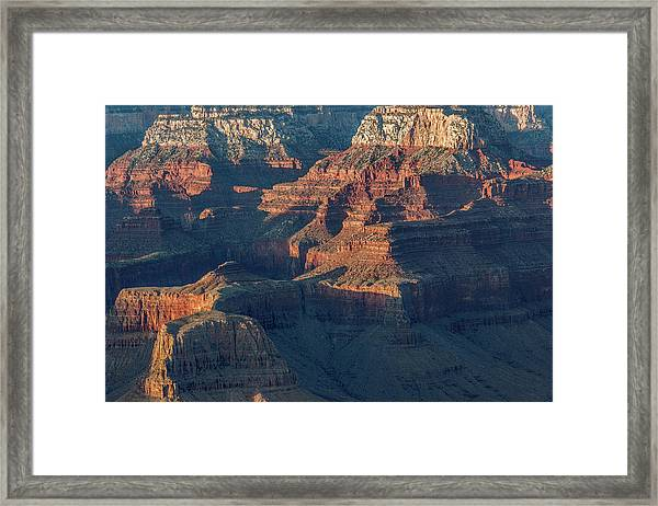 Sunset At The South Rim, Grand Canyon Framed Print