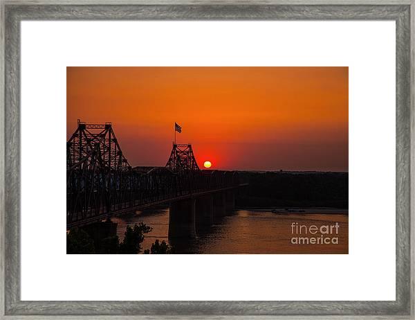 Sunset At Vicksburg Framed Print
