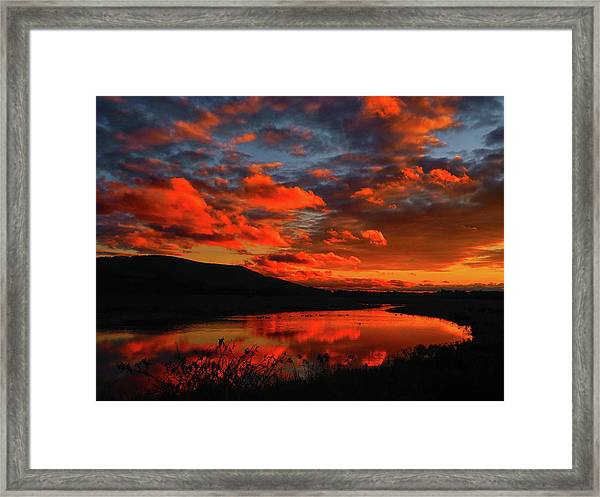 Sunset At Wallkill River National Wildlife Refuge Framed Print