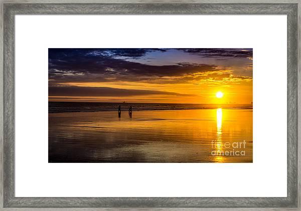 Sunset Bike Ride Framed Print