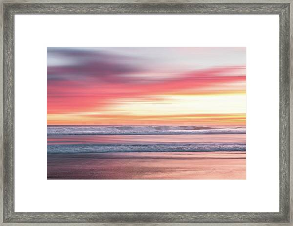 Framed Print featuring the photograph Sunset Blur - Pink by Patti Deters
