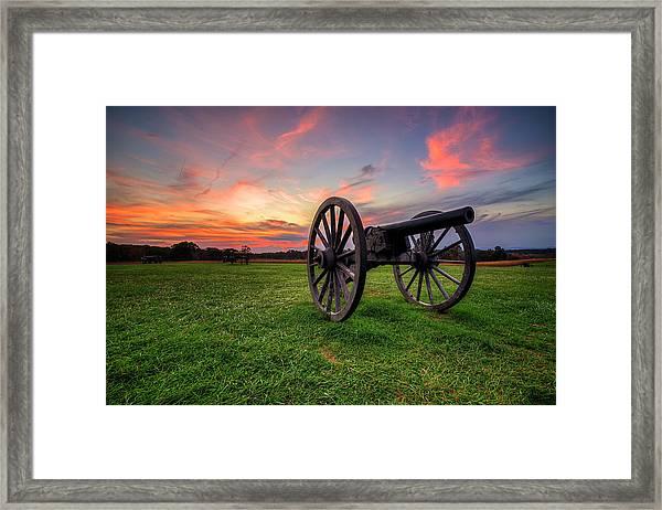 Sunset Canon Framed Print
