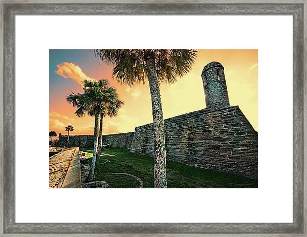 Sunset Castillo De San Marcos Framed Print