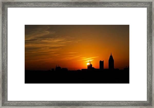 Sunset City Framed Print