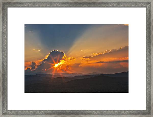 Sunset - Close Another Day Framed Print