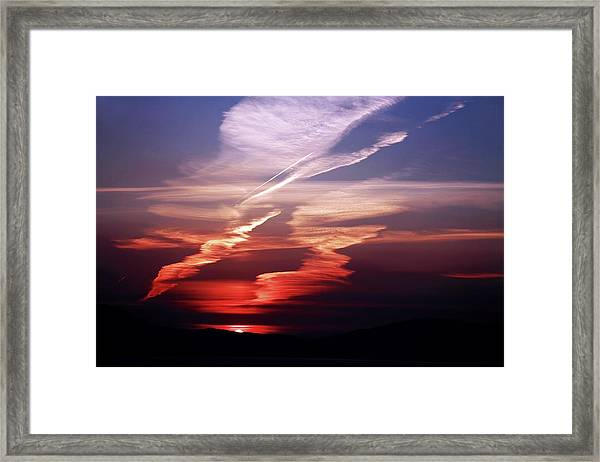 Sunset Dance Framed Print