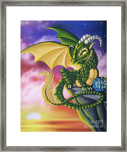 Sunset Dragon Framed Print