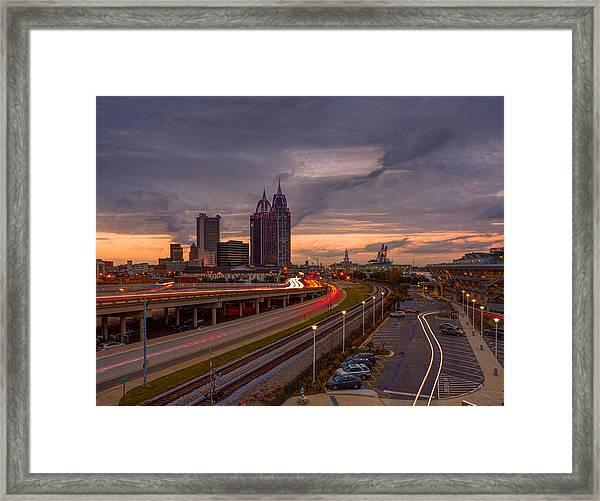 Sunset Drama Framed Print