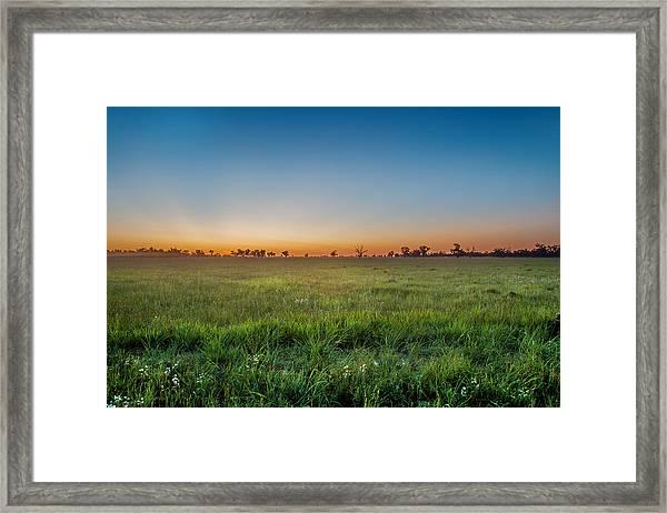 Sunset Fields Framed Print