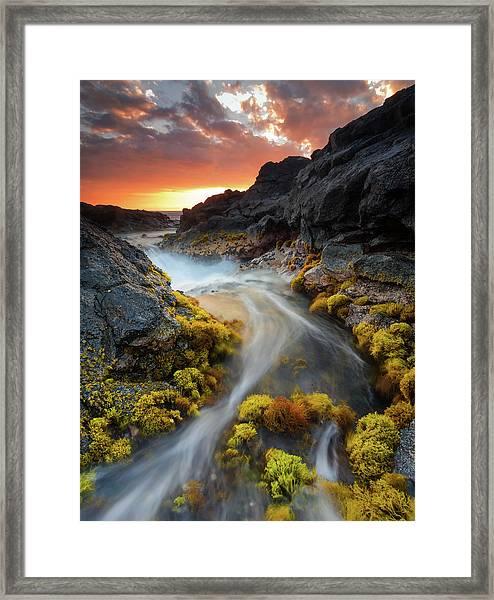 Sunset Flow Framed Print