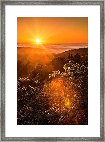 Sunset Fog Over The Pacific #2 Framed Print