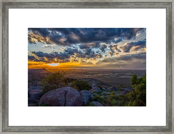 Sunset From The Heavens Framed Print