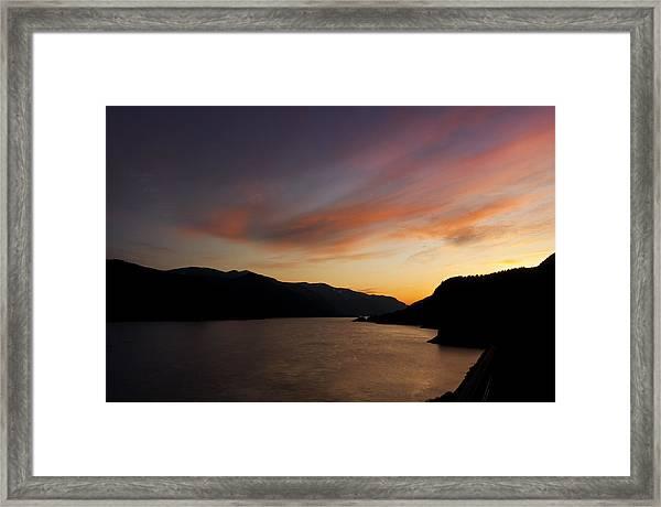 Sunset From Tunnel 6 Framed Print
